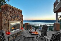 Relax beside your outdoor fireplace and enjoy the view!  There i